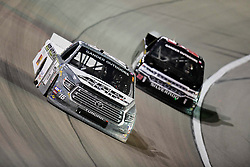 March 1, 2019 - Las Vegas, Nevada, U.S. - LAS VEGAS, NV - MARCH 01: Austin Hill (16) Hattori Racing Enterprises (HRE) Toyota Tundra racing during the Gander Outdoors Truck Series Strat 200 race on March 1, 2019, at Las Vegas Motor Speedway in Las Vegas, NV. (Photo by David Allio/Icon Sportswire) (Credit Image: © David Allio/Icon SMI via ZUMA Press)