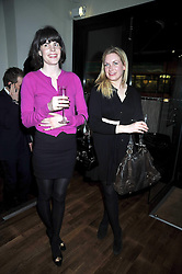 Left to right, LADY LAURA CATHCART and DAVINA BLAIR at the opening of the Brompton Bar & Grill, 243 Brompton Road, London SW3 on 11th March 2009.