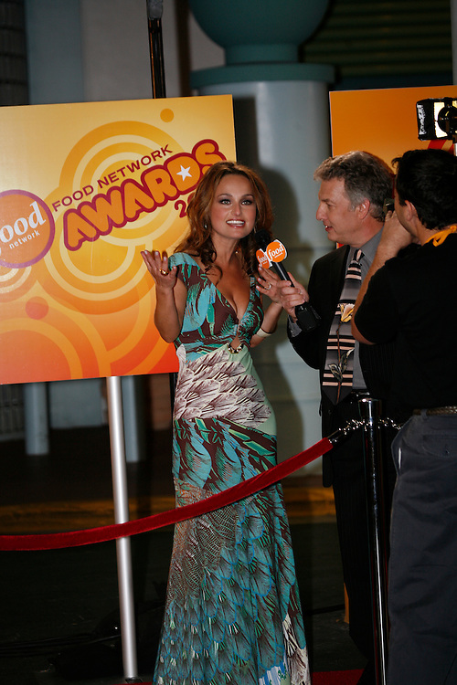 Giada De Laurentiis (left), is interviewed by Marc Summers before the First Food Network Awards Show live to tape performance was held at the Jackie Gleason Theater  of the Performing Arts, in Miami, FL on  Feb 23, 2007.  (Photo/Lance Cheung) <br /> <br /> PHOTO COPYRIGHT 2007 LANCE CHEUNG<br /> This photograph is NOT within the public domain.<br /> This photograph is not to be downloaded, stored, manipulated, printed or distributed with out the written permission from the photographer. <br /> This photograph is protected under domestic and international laws.