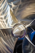 A Teignbridge bespoke propeller - The London Boat Show opens at the Excel centre. London 06 Jan 2017