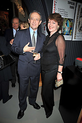 DAN TOPOLSKI and his wife SUSAN GILMOUR at a party to celebrate the opening of Topolski Century held at The Arches, Hungerford Bridge, London SE1 on 16th March 2009.