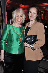 Left to right, The Lord Mayor of Westminster CLLR.SUSIE BURBRIDGE and her daughter CHARLOTTE BURBRIDGE at a private view of Ballgowns: British Glamour Since 1950 at the V&A museum, London on 15th May 2012.