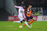 Clarck NSIKULU - 21.03.2015 - Evian Thonon / Montpellier - 30eme journee de Ligue 1 -<br />Photo : Jean Paul Thomas / Icon Sport