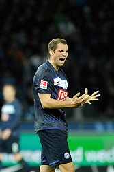 10.04.2012, Olympiastadion, Berlin, GER, 1. FBL, Hertha BSC Berlin vs SC Freiburg, 30. Spieltag, im Bild Pierre-Michel LASOGGA (Hertha BSC) regt sich nach einer verpatzten Chance auf. // during the German Bundesliga Match, 30th Round between Hertha BSC Berlin and SC Freiburg at the Olympia Stadium, Berlin, Germany on 2012/04/10. EXPA Pictures © 2012, PhotoCredit: EXPA/ Eibner/ Johannes Koziol..***** ATTENTION - OUT OF GER *****