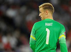 England's Joe Hart (Manchester City) - Photo mandatory by-line: Joe Meredith/JMP - Mobile: 07966 386802 - 08/09/14 - SPORT - FOOTBALL - Switzerland - Basel - St Jacob Park - Switzerland v England - Uefa Euro 2016 Group E Qualifier