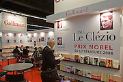 Buchmesse Frankfurt, biggest book fair in the World. Gallimard, editor of this year's nobel prize winner J.M.G. Le Clézio.