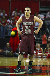 12 February 2011: Adam Leonard during an NCAA Missouri Valley Conference basketball game between the Missouri State Bears and the Illinois State Redbirds at Redbird Arena in Normal Illinois.