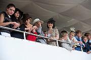 GEORGIA COLERIDGE; COURTNEY LOVE IN THE DUKE OF RICHMOND BOX, Glorious Goodwood. Ladies Day. 28 July 2011. <br /> <br />  , -DO NOT ARCHIVE-© Copyright Photograph by Dafydd Jones. 248 Clapham Rd. London SW9 0PZ. Tel 0207 820 0771. www.dafjones.com.