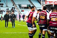 Raphael Ibanez / Laurent Marti / groupe Bordeaux Begles - 03.01.2015 - Racing Metro 92 / Bordeaux Begles - 15eme journee de Top 14 -<br />Photo : Benjamin Blanc / Icon Sport