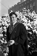 12/01/1963<br /> 01/12/1963<br /> 12 January 1963<br /> Degrees at UCD, Dublin. Mr Richard O'Sullivan, 7 Clonmore Terrace, Tralee, Co. Kerry after he received his M.V.B. and M.R.C.V.S. degrees at the conferring.