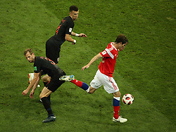 July 7, 2018 - Sochi, Russia - July 07, 2018, Sochi, FIFA World Cup 2018, the playoff round. 1/4 finals of the World Cup. Football match Russia - Croatia at the stadium Fisht. Player of the national team Mario Fernandez  (Credit Image: © Russian Look via ZUMA Wire)