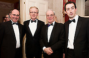 At the SCSI, (Society of Chartered Surveyors Ireland) - Western Region Annual Dinner 2016 in the Ardilaun Hotel Galway were Shane O'Hanlon, North East Chair SCSI, Andrew Nugent President SCSI, Jeff Smyth Galway and Patrick Seymour  Power and Assoc. . Photo:Andrew Downes, xpousre