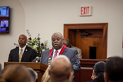 Governor Kenneth E. Mapp delivers the State of the Territory Address at the Earle B. Otlley Legislative Chambers.  St. Thomas, USVI.  30 January 2017.  © Aisha-Zakiya Boyd