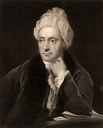 William Cowper (1731-1800) English poet, born at Great Berkhamstead, Hertfordshire, and settled at Olney, Buckinghamshire. A poet of the evangelical revival and of Nature, with John Newton, the curate at Olney, he published the 'Olney Hymns' (1779). Engraving.