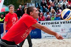 Andrej Flajs during VIP game at Zavarovalnica Triglav Beach Volley Open as tournament for Slovenian national championship on July 30, 2011, in Kranj, Slovenia. (Photo by Matic Klansek Velej / Sportida)