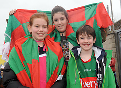 Molly, Chloe and Luke Ginty from Bunniconlon at McHale park for the Mayo v Kerry national football league encounter. Pic Conor McKeown