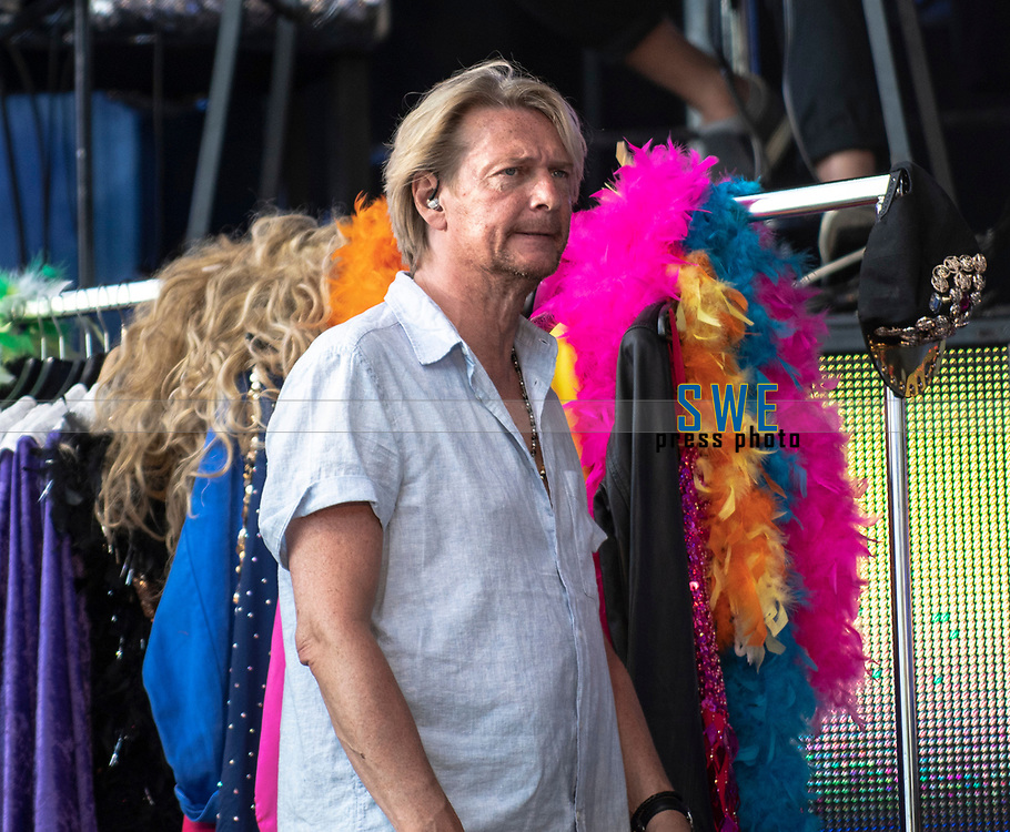2018-07-06 | Hok, Sweden: Tommy Nilsson during the Diggiloo show at Hooks Herrg&aring;rd ( Photo by: Marcus Vilson | Swe Press Photo )<br /> <br /> Keywords: Artists, Diggiloo, Show, Singers, Sweden, Tour, Music, Hok, Hooks Herrg&aring;rd, Tommy Nilsson
