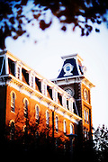 FAYETTEVILLE, AR;  Old Main building on the campus of the University of Arkansas in Fayetteville, Arkansas Stock Photography of Northwest Arkansas by Wesley Hitt.
