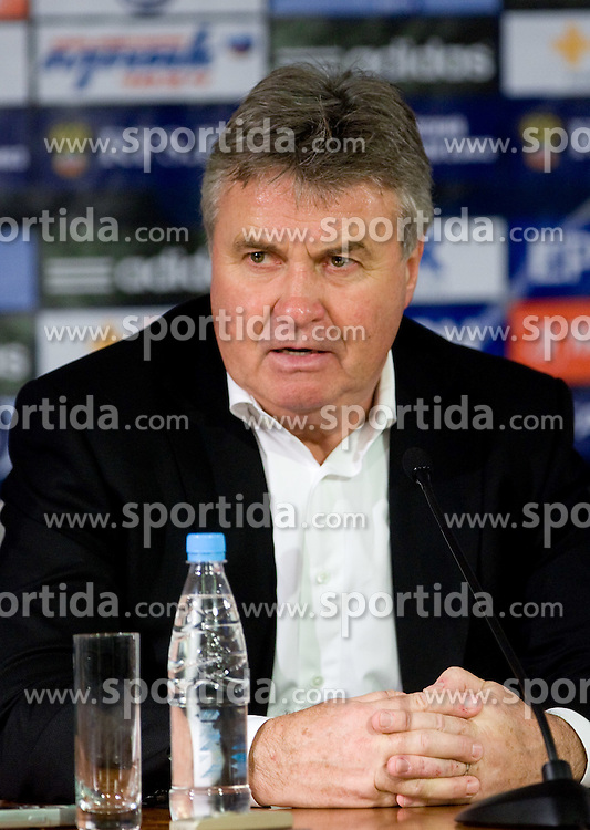 Guus Hidding at press conference after the  FIFA World Cup Sout Africa 2010 Qualifying Play off match between Russia and Slovenia, on November 14, 2009, in Stadium Luzhniki, Moscow, Russia. Russia won 2:1. (Photo by Vid Ponikvar / Sportida)