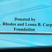 A decal on the Haven Acers Boys & Girls Club new 24 passenger bus, honors The E. Rhodes and Leona B. Carpenter Foundation for their donation of a grant last year that went towards the purchase of the new bus.