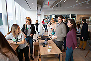 New York, NY - December 17, 2018: Move-in day for Spotify at 4 World Trade Center in Lower Manhattan.<br /> <br /> Photos by Clay Williams.<br /> <br /> © Clay Williams - http://claywilliamsphoto.com