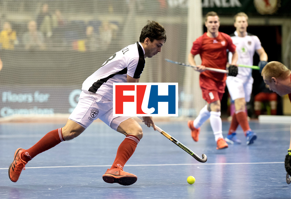 BERLIN - Indoor Hockey World Cup<br /> Quarterfinal 2: Austria - Poland<br /> foto: Benjamin Stanzl.<br /> WORLDSPORTPICS COPYRIGHT FRANK UIJLENBROEK