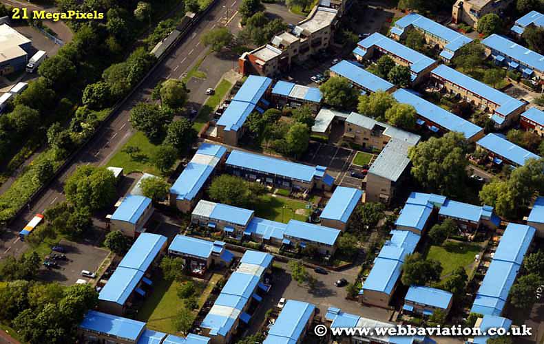 aerial photograph  Byker Newcastle upon Tyne England UK