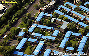 aerial photograph  Byker Newcastle upon Tyne England UK