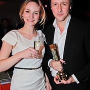 NLD/Amsterdam/20110124 - Uitreiking Beeld en Geluid awards 2010, Daan Schuurmans en partner Bracha van Doesburg