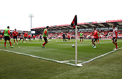 Bournemouth players warm up - Photo mandatory by-line: Robbie Stephenson/JMP - Mobile: 07966 386802 - 14/03/2015 - SPORT - Football - Bournemouth - Dean Court - AFC Bournemouth v Blackpool - Sky Bet Championship