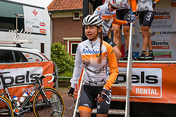 Rider of Rabo Liv Women Cycling Team with Lucinda Brand and Roxane Knetemann after the sign-on at the Holland Ladies Tour, Zeddam, Gelderland, The Netherlands, 1 September 2015.<br /> Photo: Pim Nijland / PelotonPhotos.com