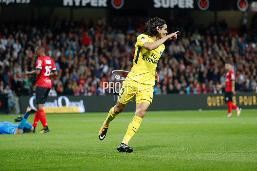 Edinson Roberto Paulo Cavani Gomez (psg) (El Matador) (El Botija) (Florestan) scored a goal during the French championship L1 football match between EA Guingamp v Paris Saint-Germain, on August 13, 2017 at the Roudourou stadium in Guingamp, France - Photo Stephane Allaman / ProSportsImages / DPPI