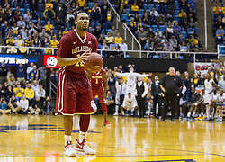 Jan 18, 2017; Morgantown, WV, USA; Oklahoma Sooners guard Jordan Woodard (10) shoots a foul shot late in the second half against the West Virginia Mountaineers at WVU Coliseum. Mandatory Credit: Ben Queen-USA TODAY Sports