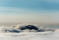 California Hills surrounded by morning fog