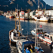 Three weeks aboard the Kong Harald. Hurtigruten, the Coastal Express. Svolvaer in the Lofotens.