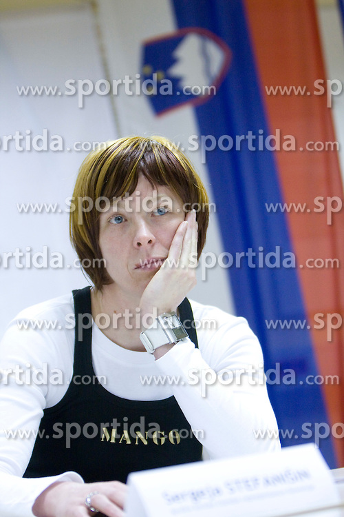 Sergeja Stefanisin at  press conference of Handball women national team of Slovenia before prequalification tournament (for World Championship China 2009) in Montenegro from 25th till 30th November 2008, on November 31, 2008, in RZS, Ljubljana, Slovenia. (Photo by Vid Ponikvar / Sportida)