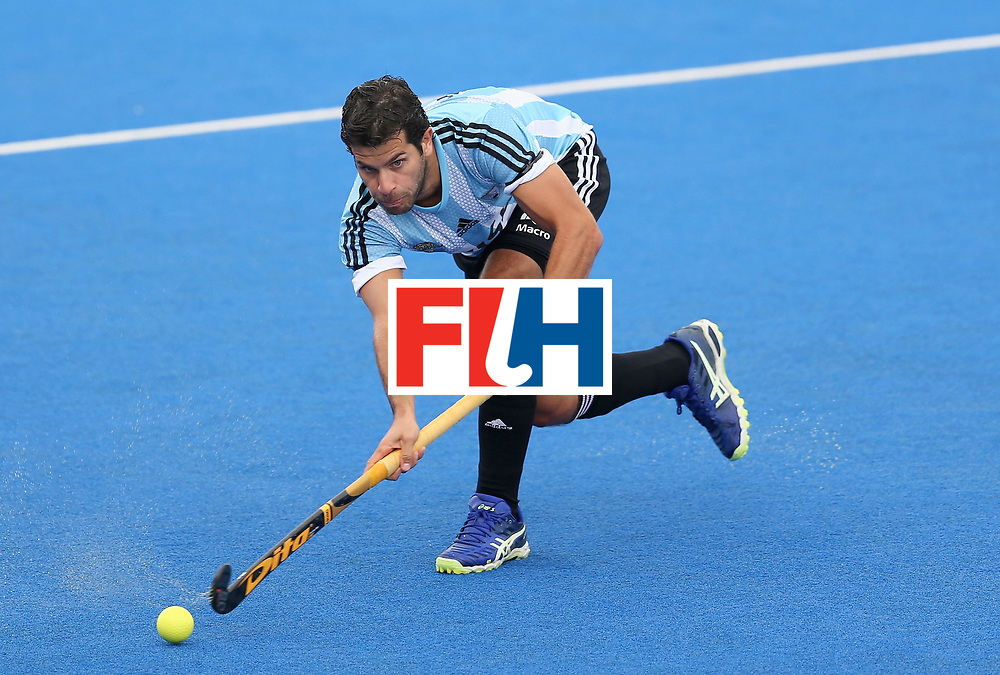 LONDON, ENGLAND - JUNE 24:  Juan Lopez of Argentina in action during the semi-final match between Argentina and Malaysia on day eight of the Hero Hockey World League Semi-Final at Lee Valley Hockey and Tennis Centre on June 24, 2017 in London, England.  (Photo by Steve Bardens/Getty Images)