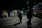 An eldery man is seen walking in the Calais camp, France. FEDERICO SCOPPA/CAPTA