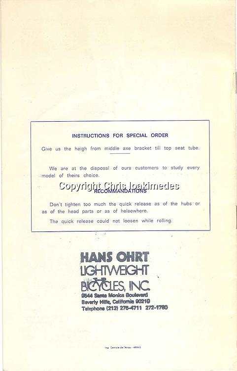 1972 Andre Bertin Catalog