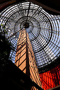 Completed in 1888, the 50 meter tall Shot Tower is enclosed within an 84 meter high glass and steel structure. Melbourne, Australia<br /> RIGHTS MANAGED LICENSE AVAILABLE FROM www.picade.com<br /> reference no: 5005E00MELBOURNE_3296