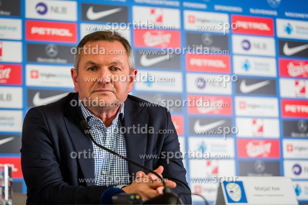 Matjaz Kek, new head coach of National team Slovenia during Press conference of new head coach of Team Slovenia, on November 27, 2018 in National Football Centre, Brdo pri Kranju, Slovenia. Photo by Ziga Zupan / Sportida