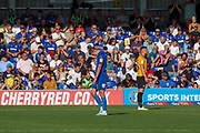 AFC Wimbledon attacker Marcus Forss (15) red card, sent off during the EFL Sky Bet League 1 match between AFC Wimbledon and Bristol Rovers at the Cherry Red Records Stadium, Kingston, England on 21 September 2019.