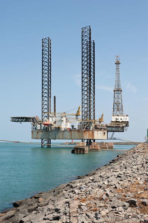 Oil rig in the Takoradi harbour, Ghana 2011