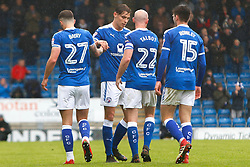 Chesterfield players celebrate after opening the scoring - Mandatory by-line: Ryan Crockett/JMP - 28/04/2018 - FOOTBALL - Proact Stadium - Chesterfield, England - Chesterfield v Wycombe Wanderers - Sky Bet League Two