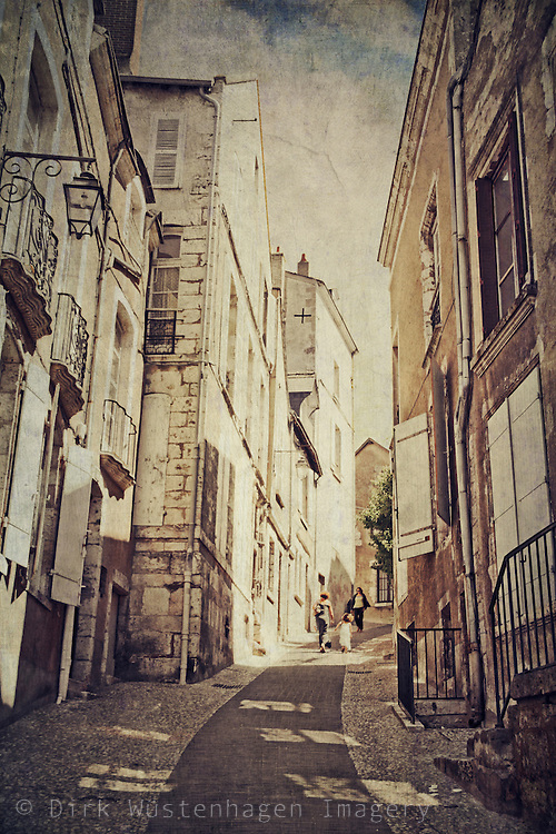 Lane in the city of Blois/ France
