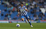 Brighton defender, full back, Liam Rosenior gets forward during the Sky Bet Championship match between Brighton and Hove Albion and Cardiff City at the American Express Community Stadium, Brighton and Hove, England on 3 October 2015.