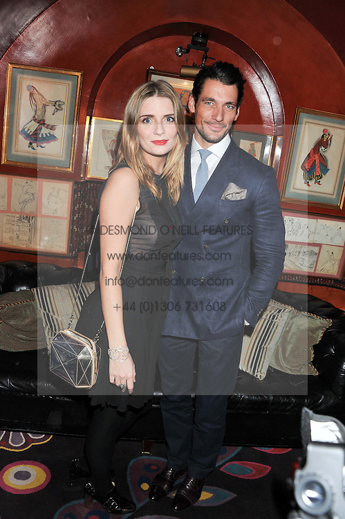 MISCHA BARTON and DAVID GANDY at the Johnnie Walker Blue Label and David Gandy partnership launch party held at Annabel's, 44 Berkeley Square, London on 5th February 2013.