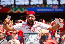 June 23, 2018 - Moscou, Rússia - MOSCOU, MO - 23.06.2018: BÉLGICA Y TÚNEZ - Tunisia fan during match between Belgium and Tunisia valid for the second round of Group G of the 2018 World Cup, held at the Otkrytie Arena in Moscow, Russia. (Credit Image: © Marcelo Machado De Melo/Fotoarena via ZUMA Press)