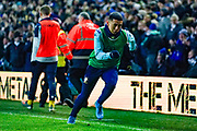 Leeds United forward Ian Poveda (7) warming up during the EFL Sky Bet Championship match between Leeds United and Millwall at Elland Road, Leeds, England on 28 January 2020.