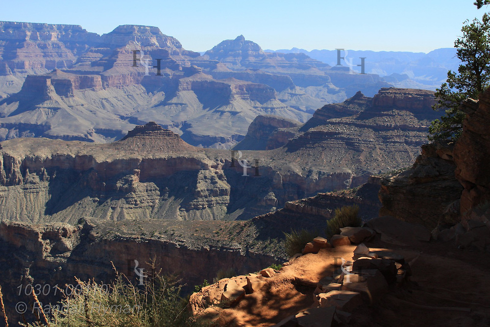 View from South Kaibab Trail near Cedar Ridge, Grand Canyon National Park, Arizona.